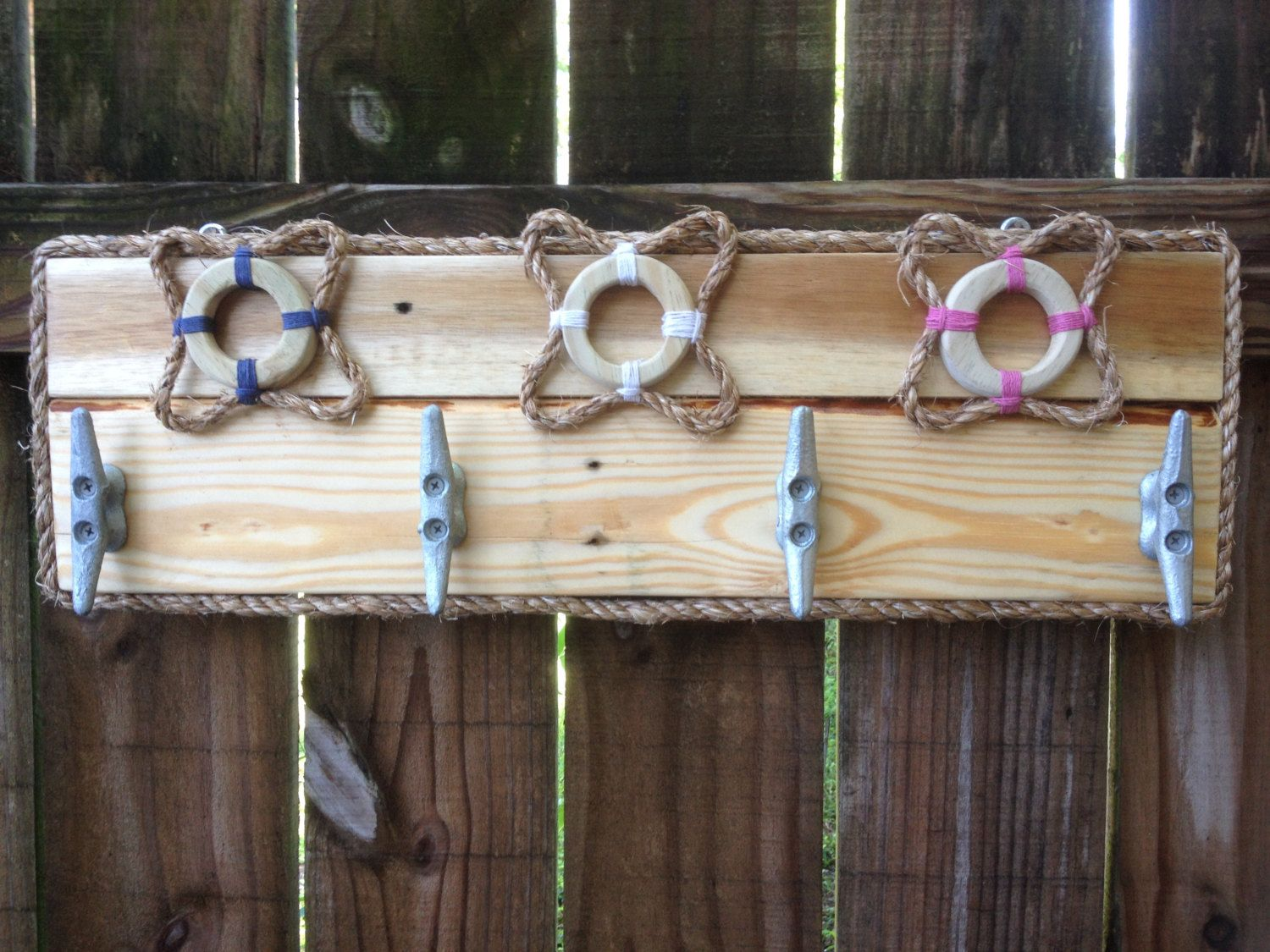 Nautical towel rack, Boat Cleat towel rack, Outdoor shower hooks ...