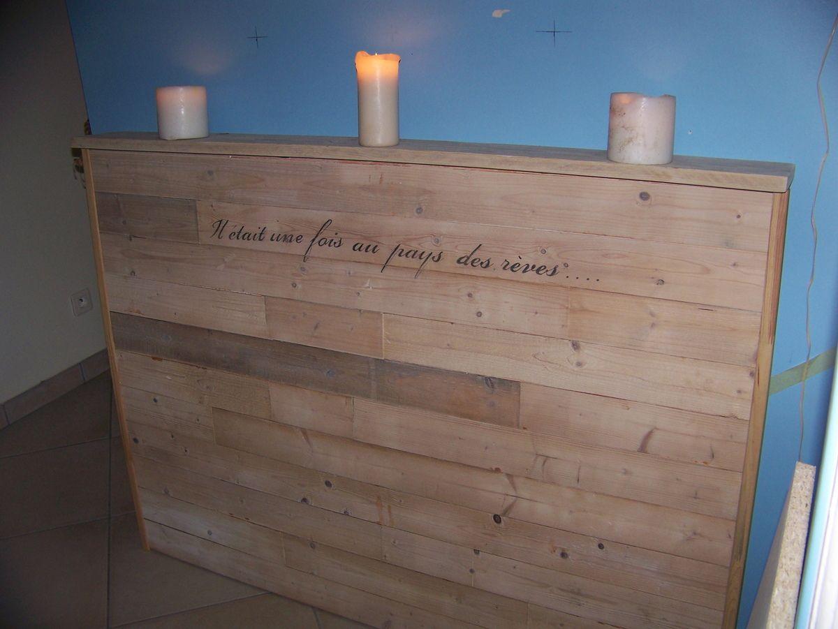 tutoriel : tête de lit en bois de récup | tête de lit | pinterest