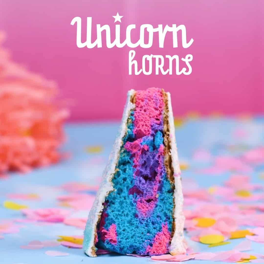 Chocolate covered unicorn horn cakes so yummy recipe