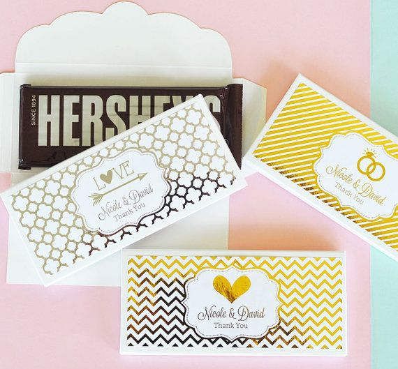 Personalized Candy Wrers For Pink And Gold Wedding Bridal Shower Custom Bar Wrer