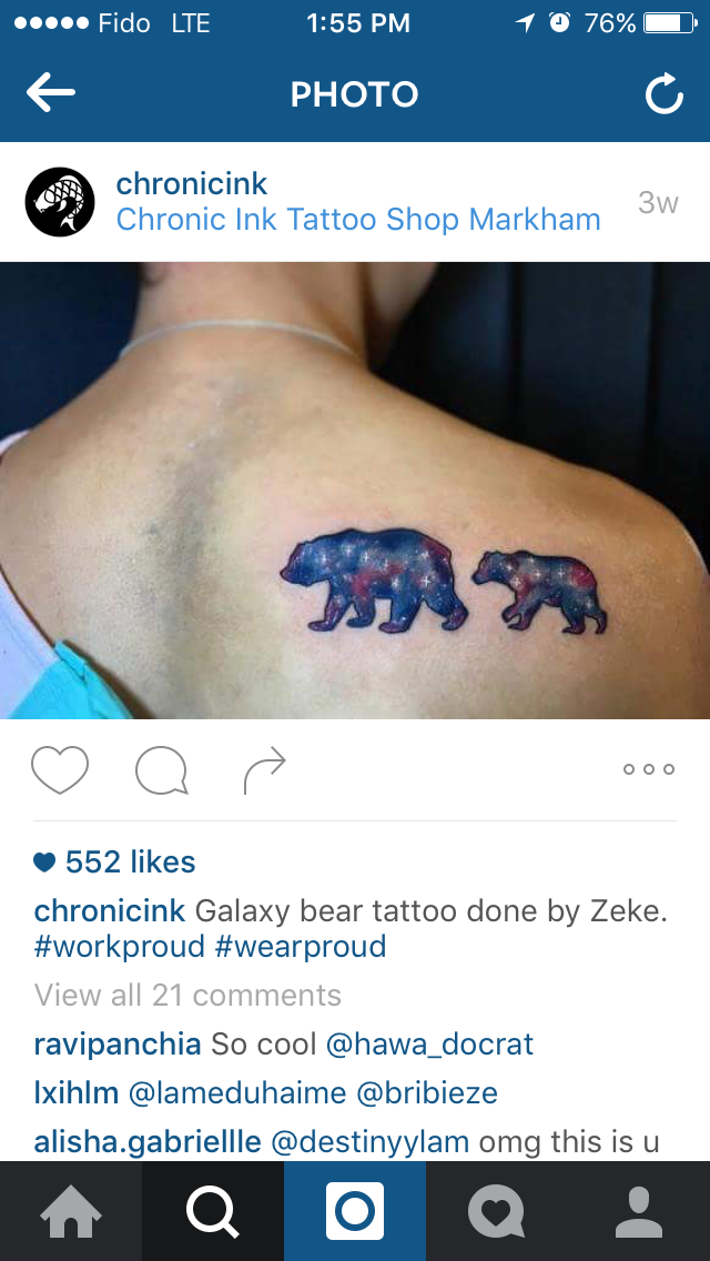 galaxy polar bears by zeke x chronic ink this would be cool with a