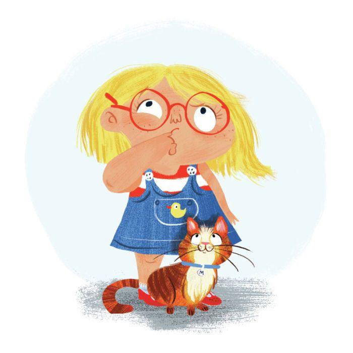 Cute Girl illustration- Girls Pinterest Illustration girl