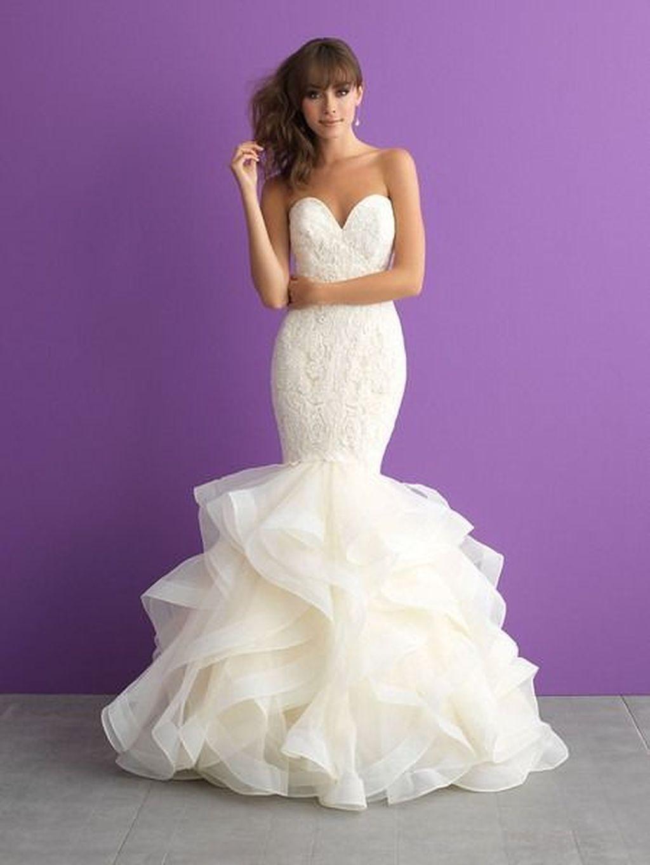 romantic white mermaid wedding dress ideas pinterest mermaid