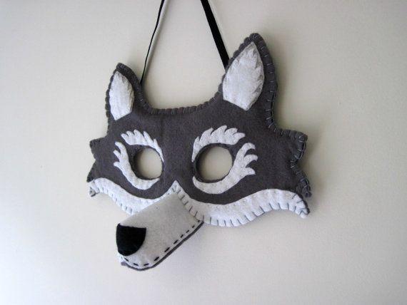 Felt Wolf Mask - Dressing Up Costume, Fancy Dress Costume Little Red ...