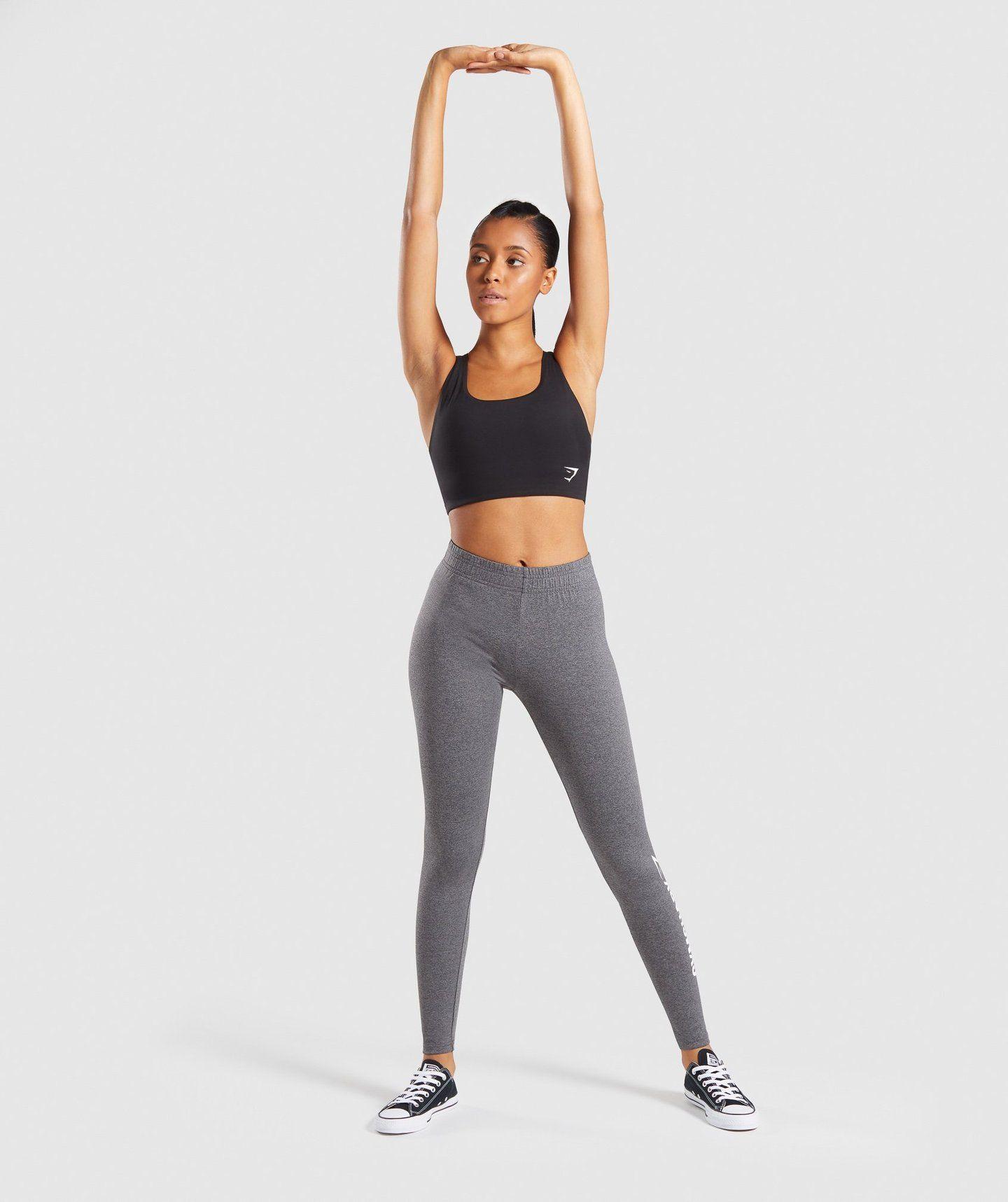 8abad51f6fc5a Gymshark Core Leggings - Charcoal Marl   gym   Gym leggings ...