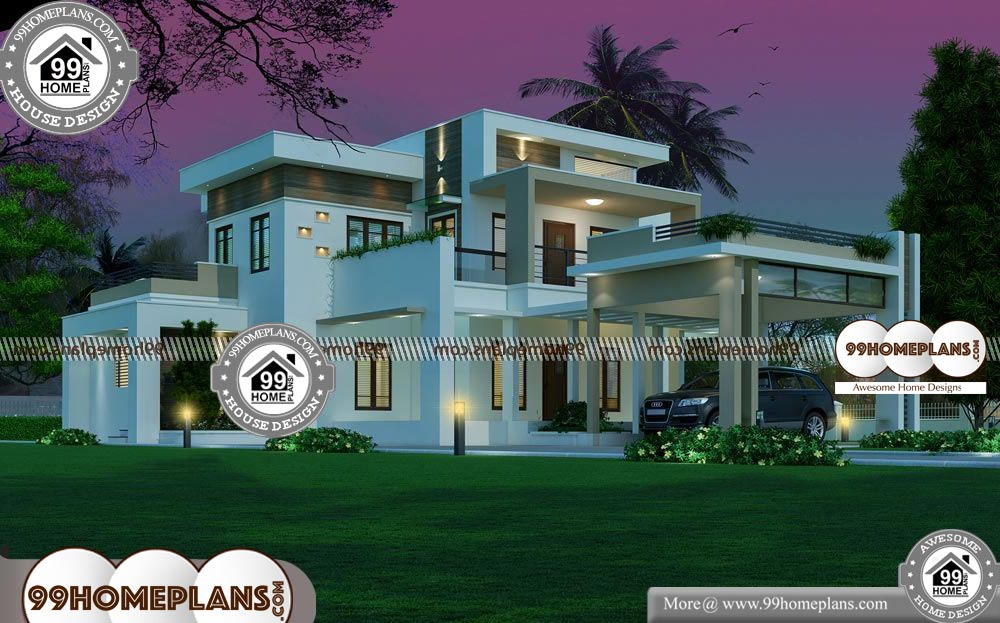 South Indian Home Plans 80 Best Double Storey House Plans Designs 99homeplans Com South India Double Storey House Plans Double Storey House House Plans