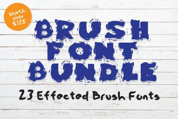 Download Brush Font Bundle (Bundle) · Creative Fabrica in 2020 ...