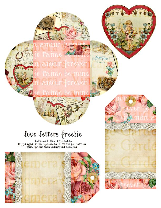 'Love Letters' free printable. For personal use only. Enjoy!