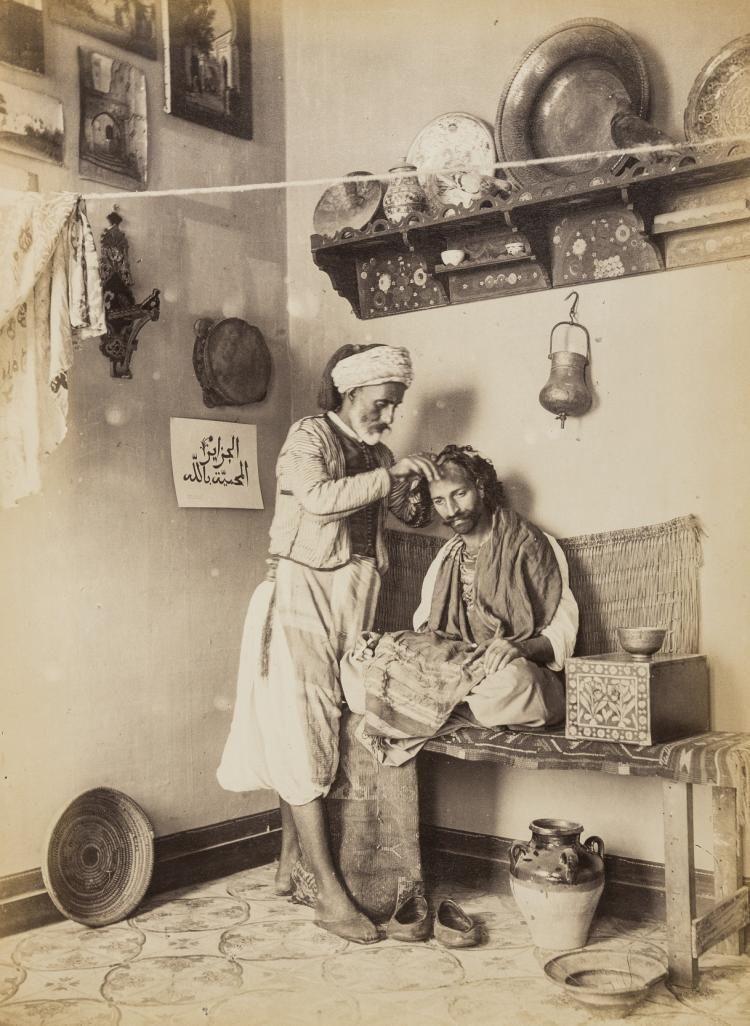 Algérie d'antan: Barbier Arabe  dans Photos 3885199d6d067e3793c3c54c011b1fed