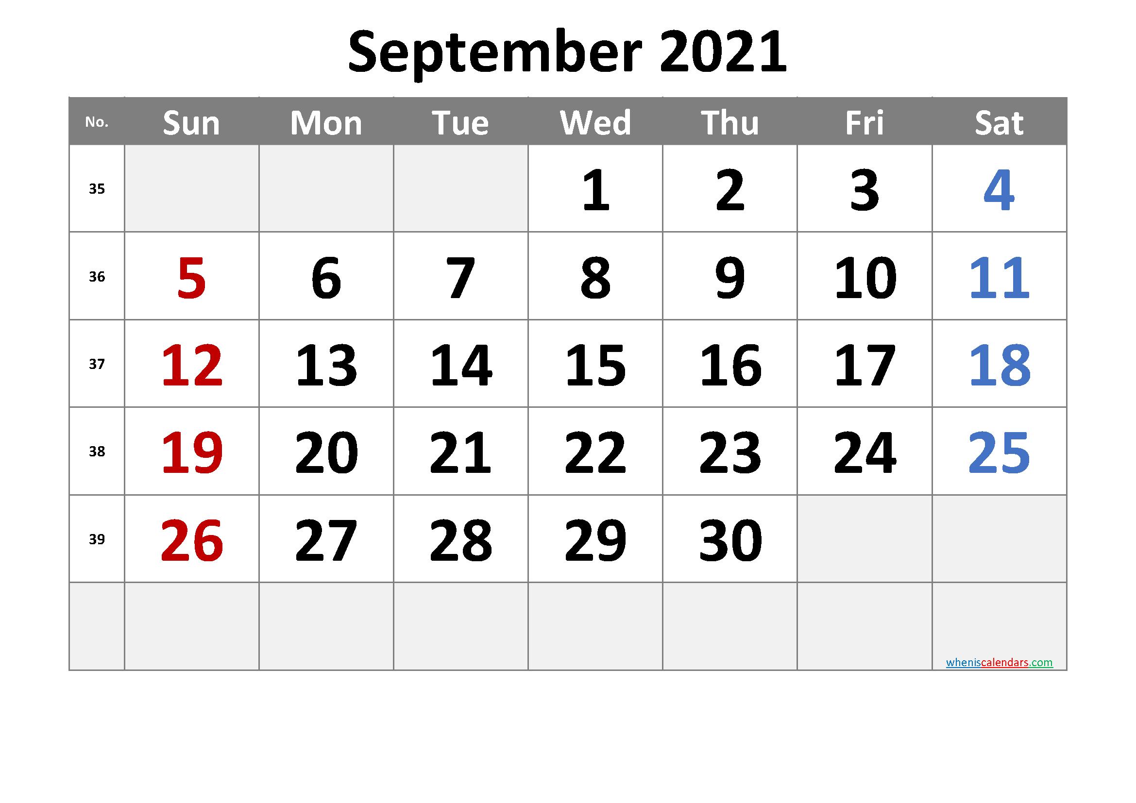 Printable September 2021 Calendar Free Premium In 2020 Calendar Printables Free Printable Calendar Printable Calendar July