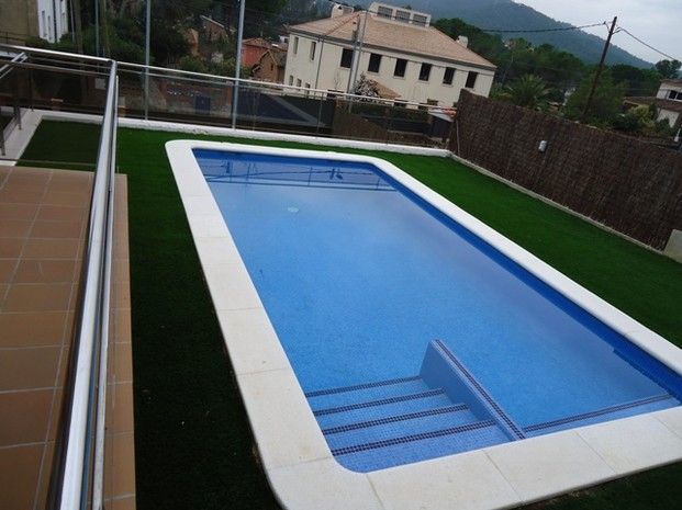 Piscina rectangular piscinas pinterest house for Piscinas de plastico rectangulares