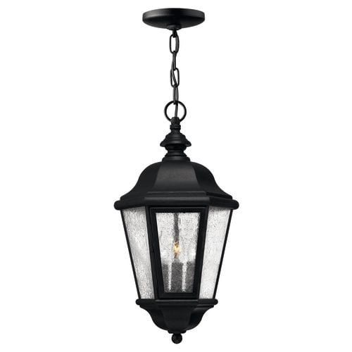 Hinkley Lighting H1672 3 Light Outdoor Lantern Pendant From The Edgewater  Collection, Black (Aluminum