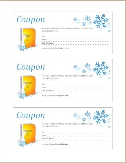 Coupon template for MS Word DOWNLOAD at http\/\/worddoxorg\/how-to - coupon template free