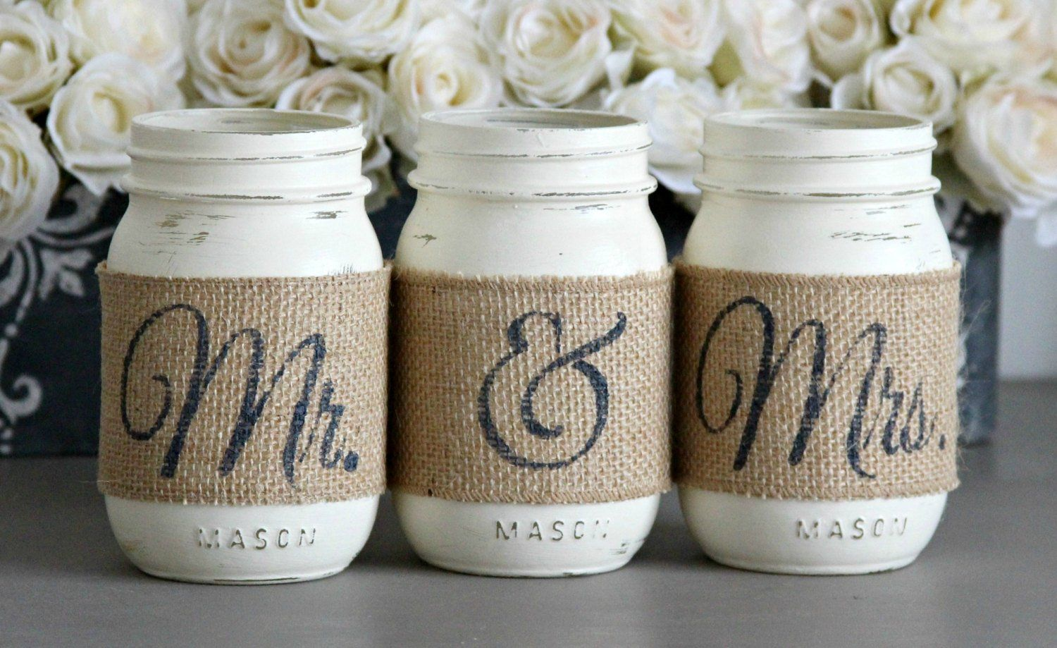 Mr & Mrs Sign Decor - Rustic Wedding Centerpiece - Wedding Table Decor - Bridal Shower Decor-Engagement Gift -Gift For Couple -Barn Wedding