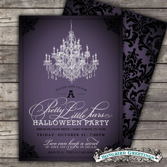 Items Similar To DIY Pretty Little Liars Halloween Party Invitation Customizable On Etsy