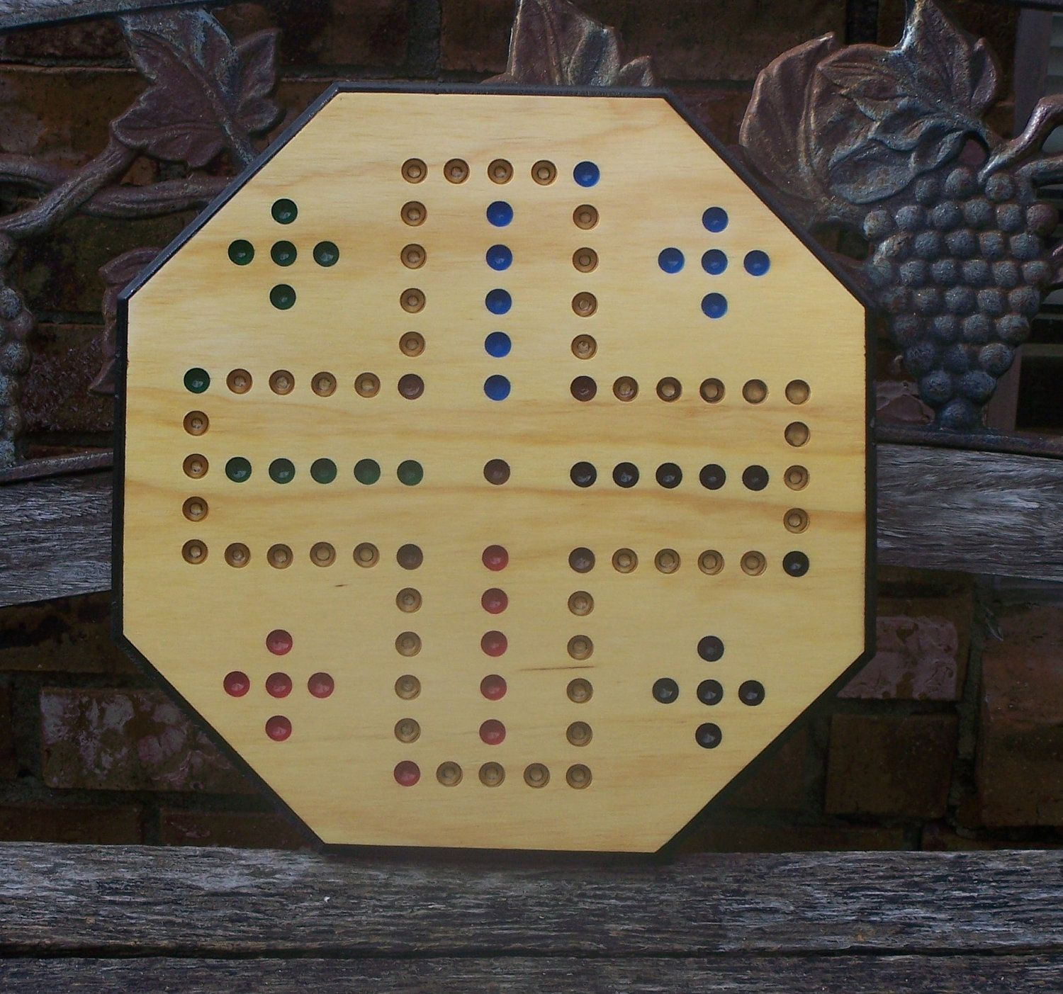 Aggravation Game Board 4 Player W Marbles And Dice 20 Inch Etsy Marble Games Board Games Marble Board
