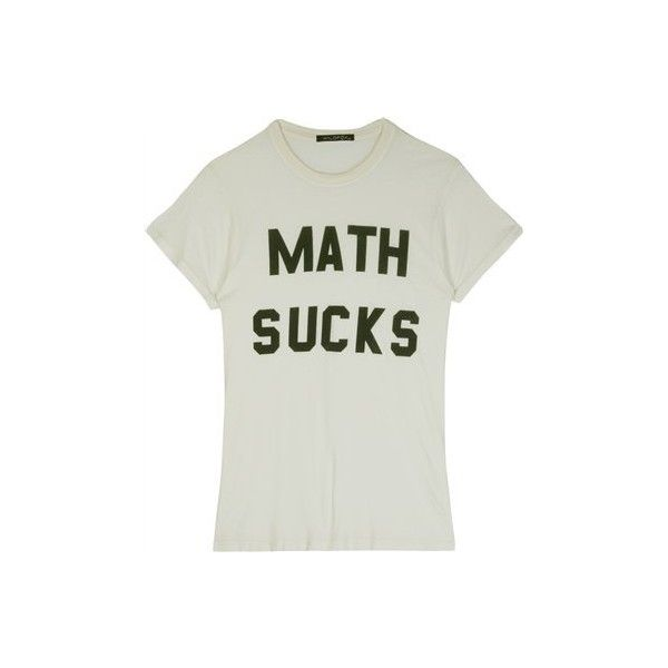 MATH SUCKS VINTAGE T-SHIRT (420 BRL) ❤ liked on Polyvore featuring tops, t-shirts, shirts, tees, casual tops, slogan t shirts, vintage tees, cotton tee, distressed t shirt and tee-shirt