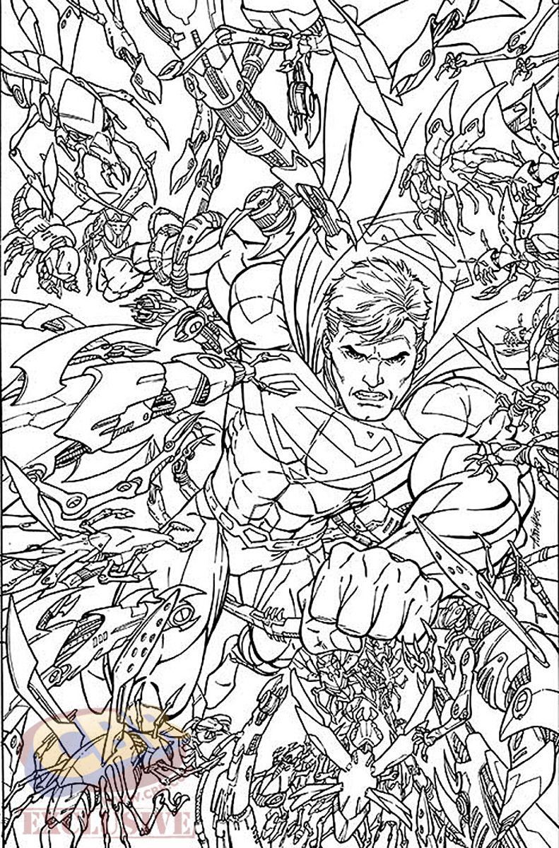comic book coloring pages free - photo#49