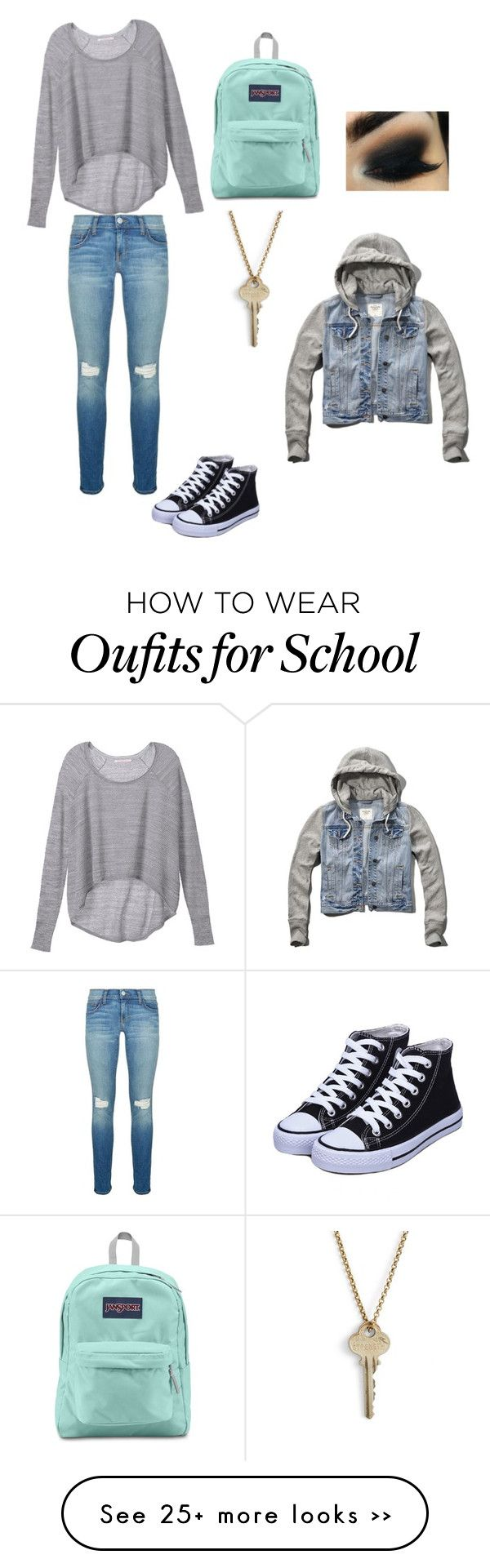school by ali-the-gymnast on Polyvore featuring Rebecca Minkoff, Victorias Secret, JanSport, The Giving Keys and Abercrombie  Fitch