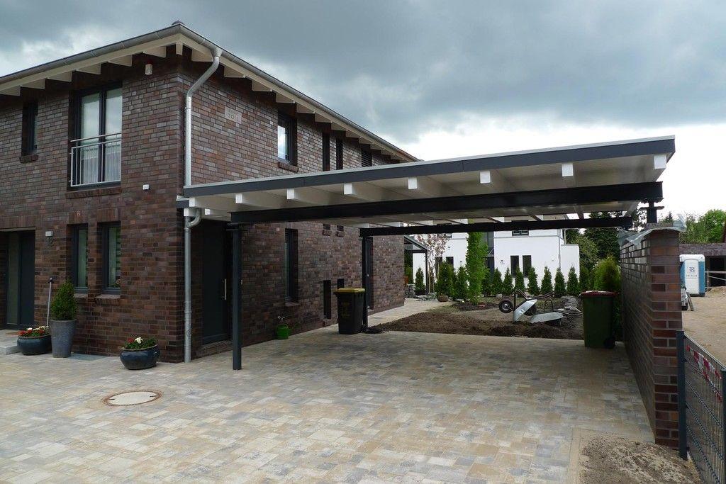 Stahl-Carport - Mauer - weiß | Häuser | Pinterest | Stahl Carports ...