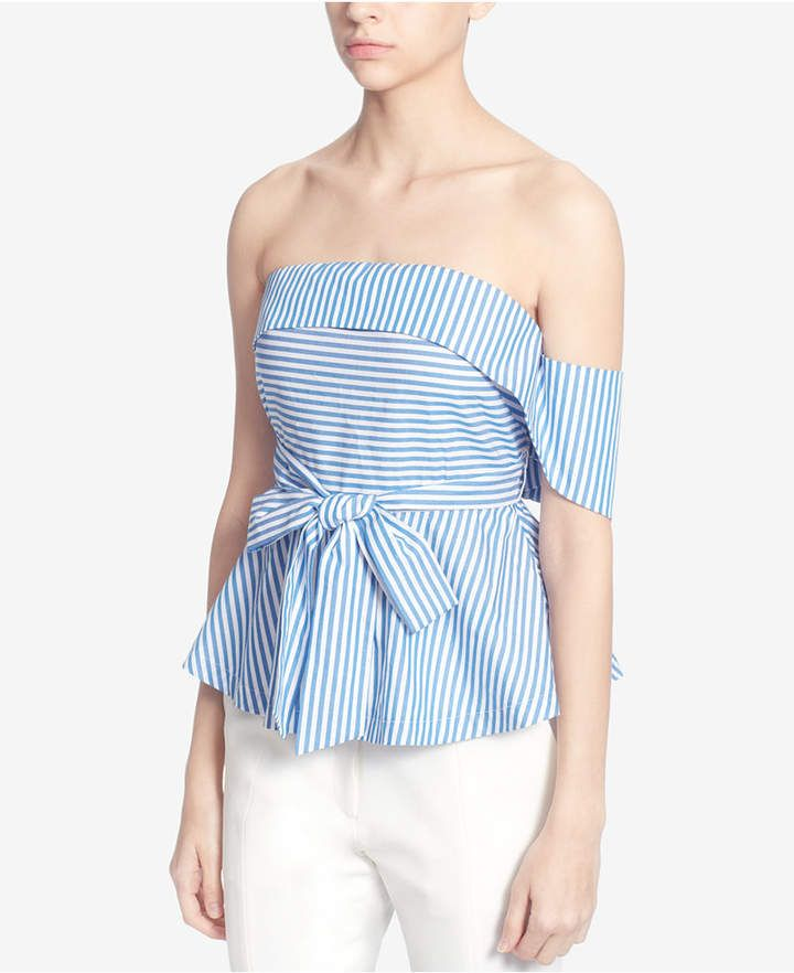 414c65b7144 Catherine Malandrino Cotton Strapless Top | Products | Blouse, Tops ...