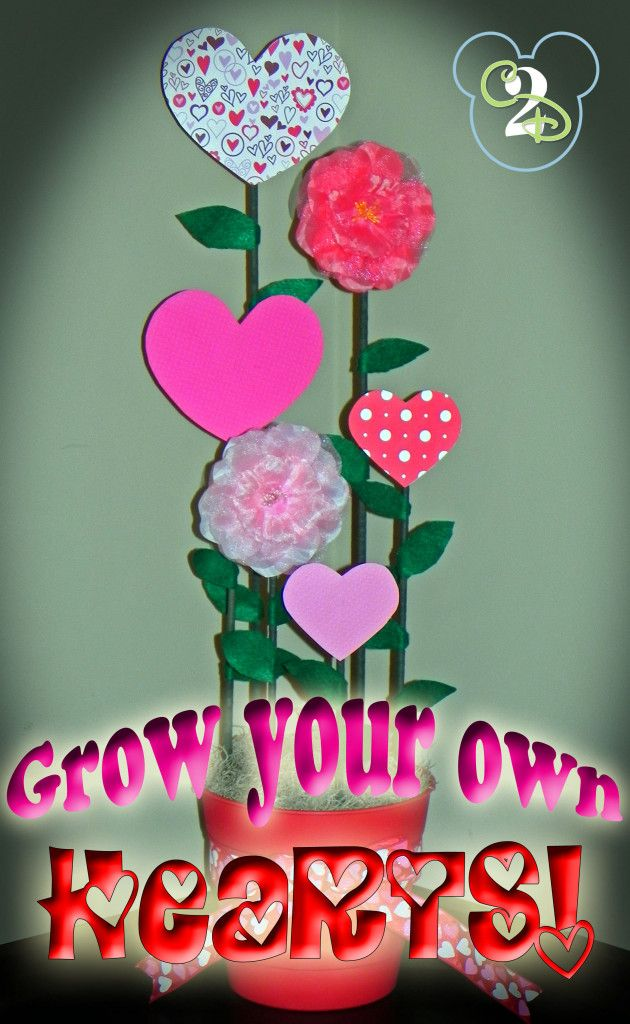 Valentine S Day Craft Grow Your Own Hearts Decorating