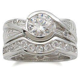 Cz Wedding Rings Bezel Setting Cz Wedding Set Costumefashionjewelry 19 50 Affordable Wedding Ring Set Cz Wedding Ring Sets Cz Wedding Rings