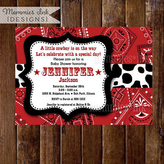 cowboy invitation template