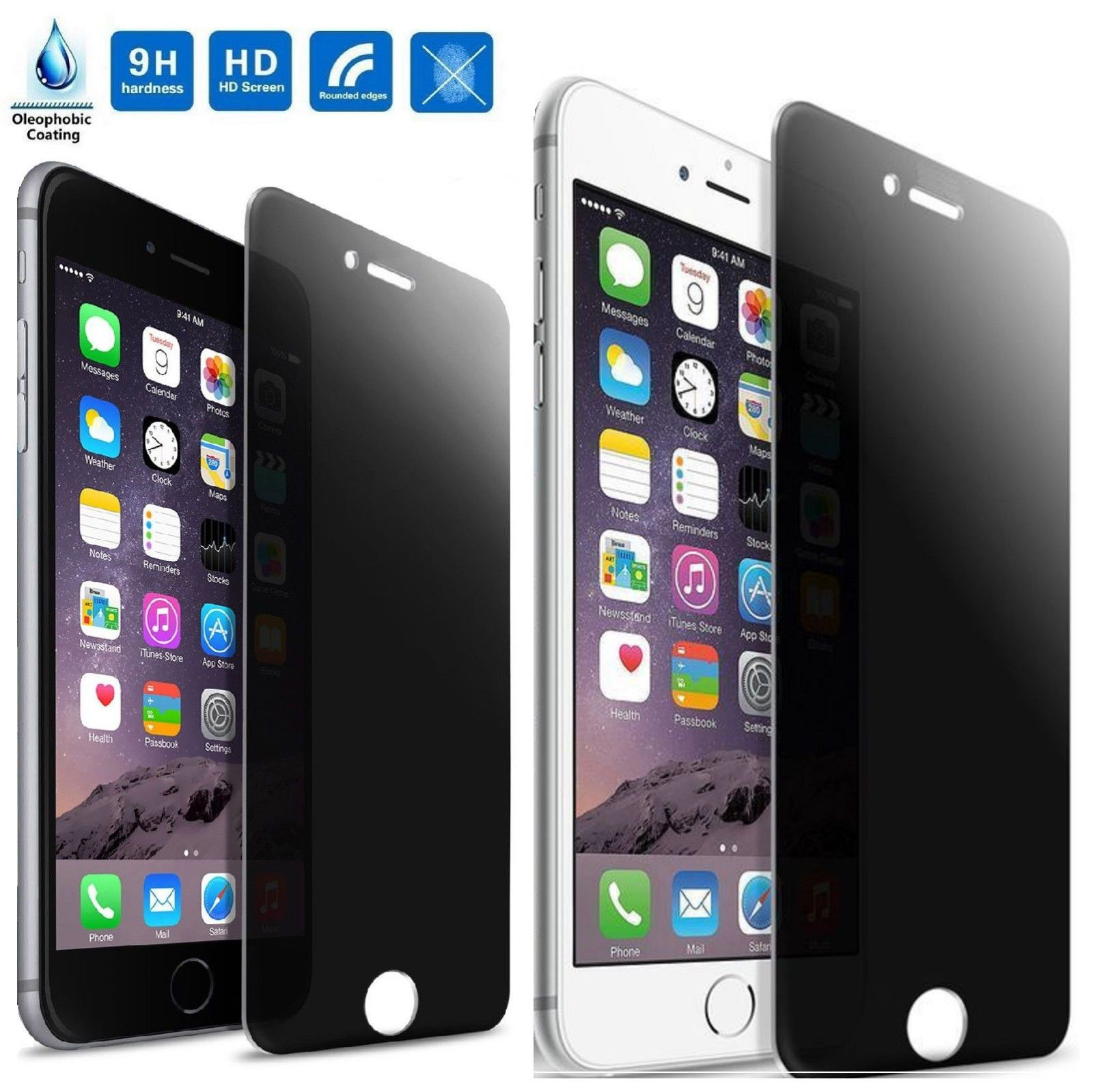 Antispy peeping privacy tempered glass screen protector