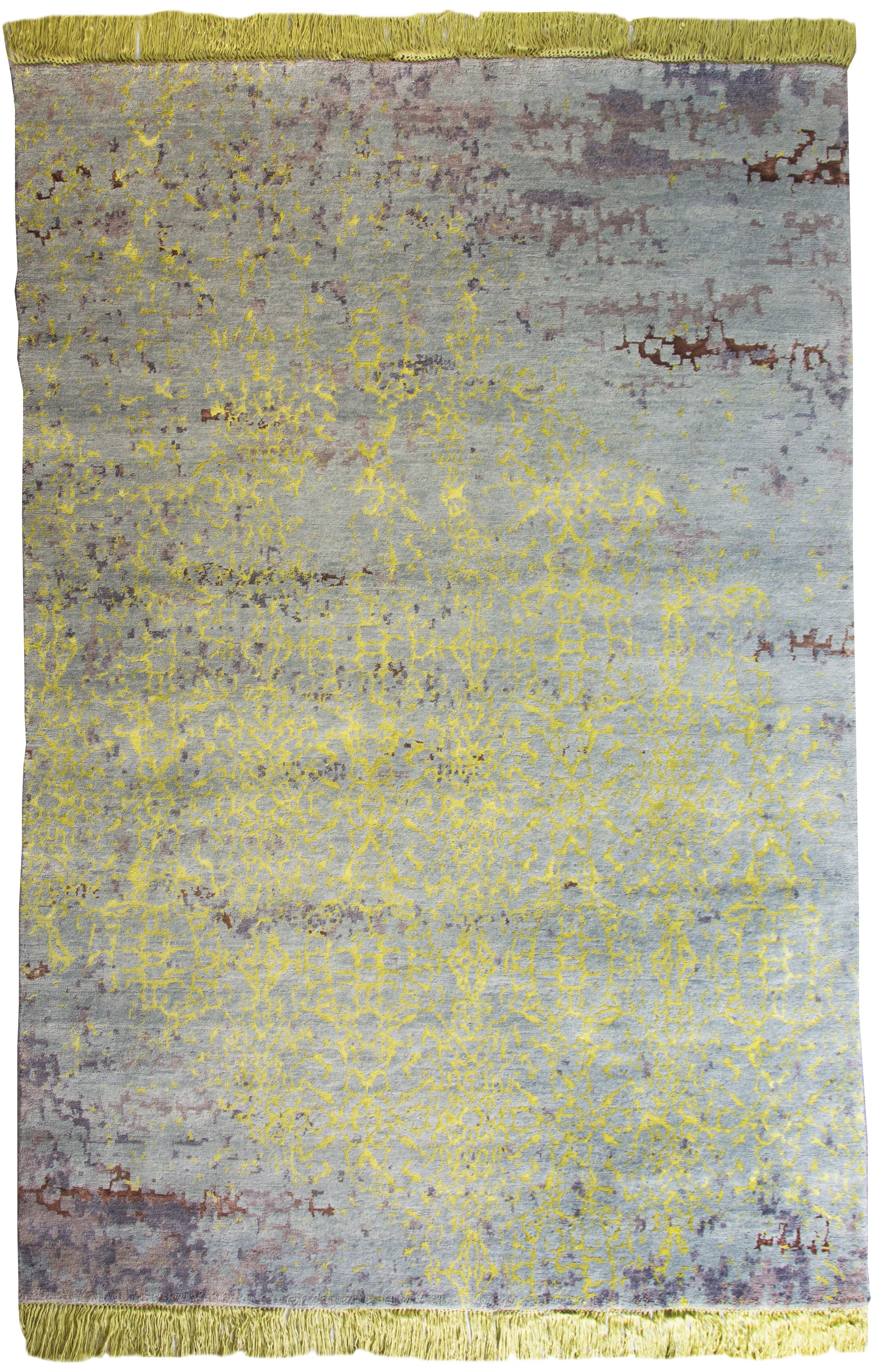 Beautiful Erased Vintage Style Rug Grey Mustard Yellow From Floorstory Http