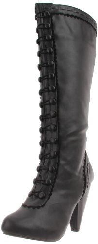 Black victorian style knee high boots. another shoes