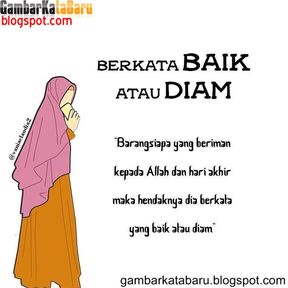 Intan Citra Dewi Katakata Bijak Wanita Muslimah Kartun Gambar