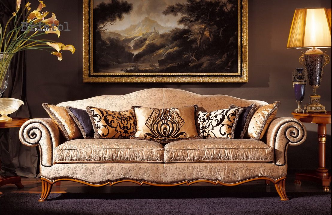 Luxury White Classic Sofa Set Designs For Living Room