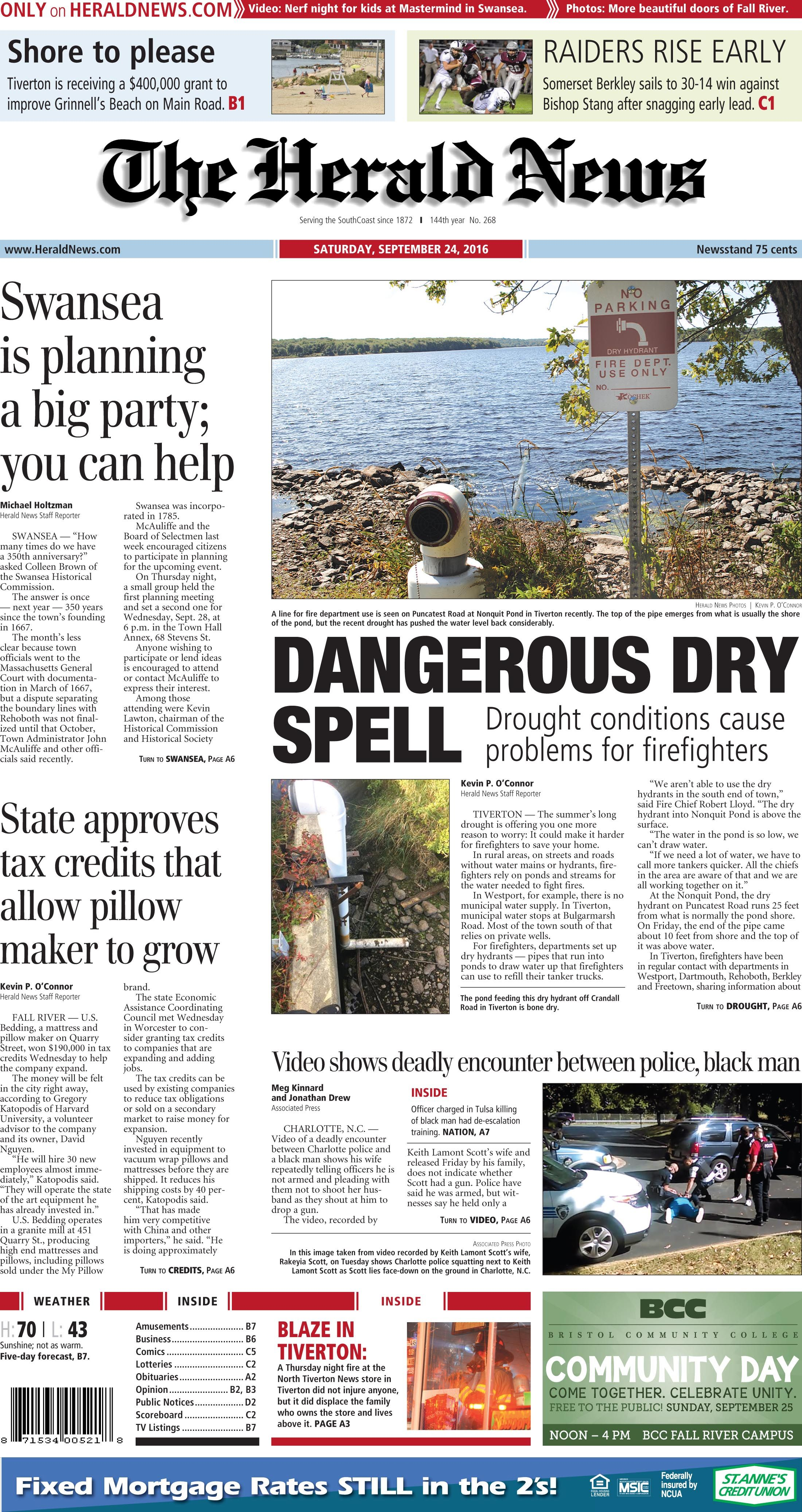 Pin By The Herald News Of Fall River On Herald News Front Pages Herald News Fall River Grinnell