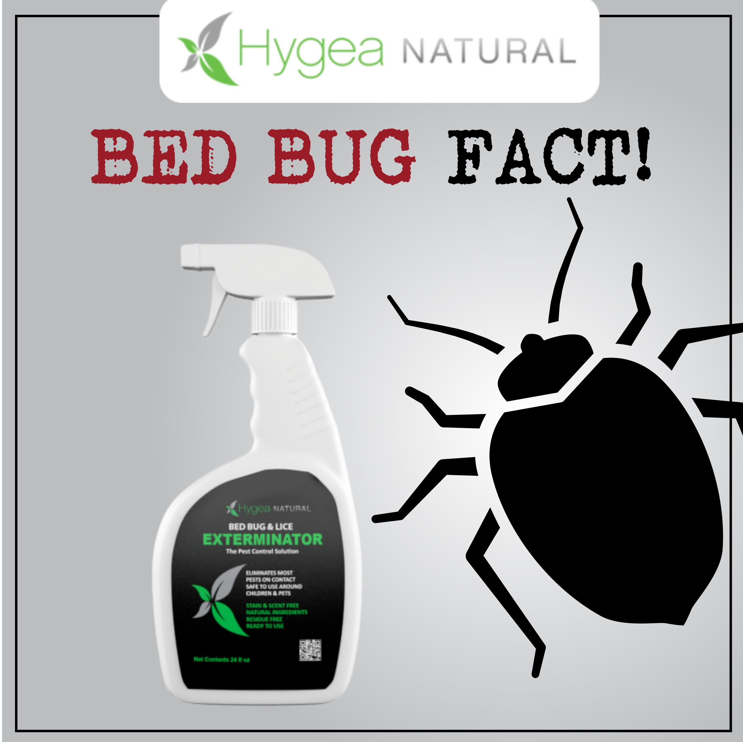 The Hygea Natural 24 oz bed bug spray is a must have