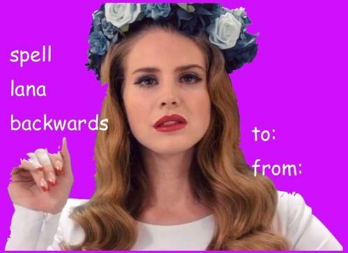 Lana Del Rey Valentine Card #funny