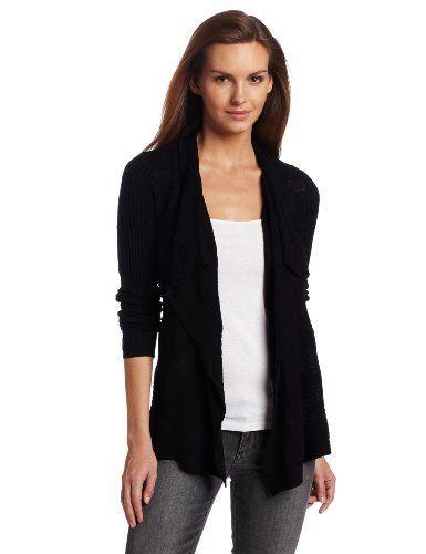 Nice, easy, classic look....DKNY Drapey Black Cardigan ...