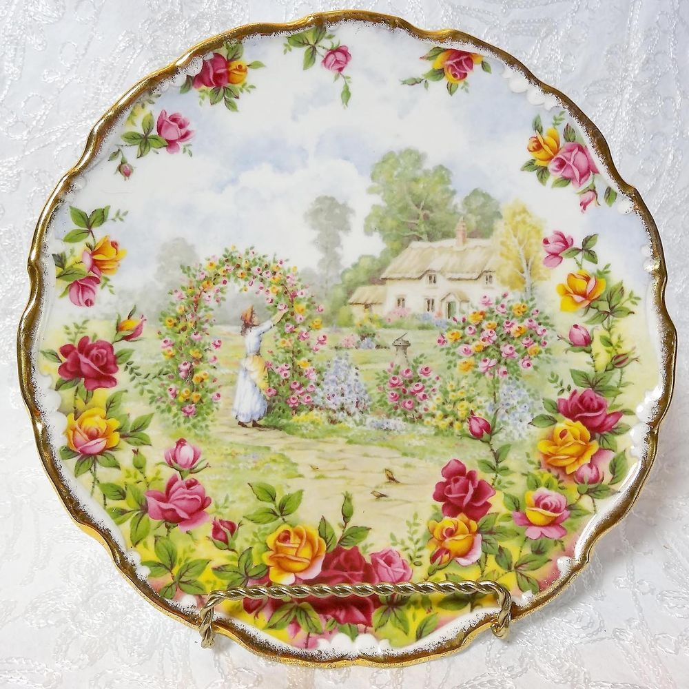 Royal Albert Old Country Roses 25th Anniversary Plate Bone China ...