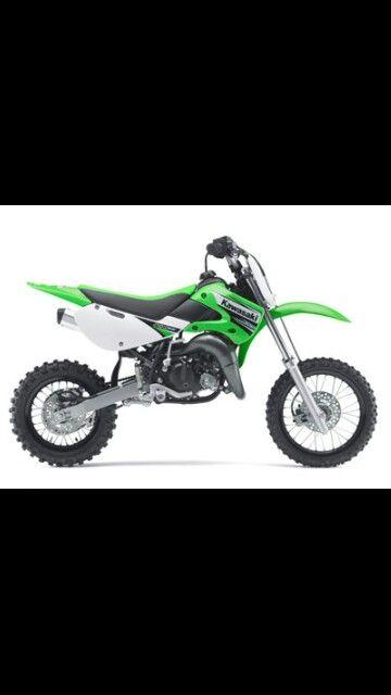 kawasaki kx65, kids starter bike. i think he needs a little 50