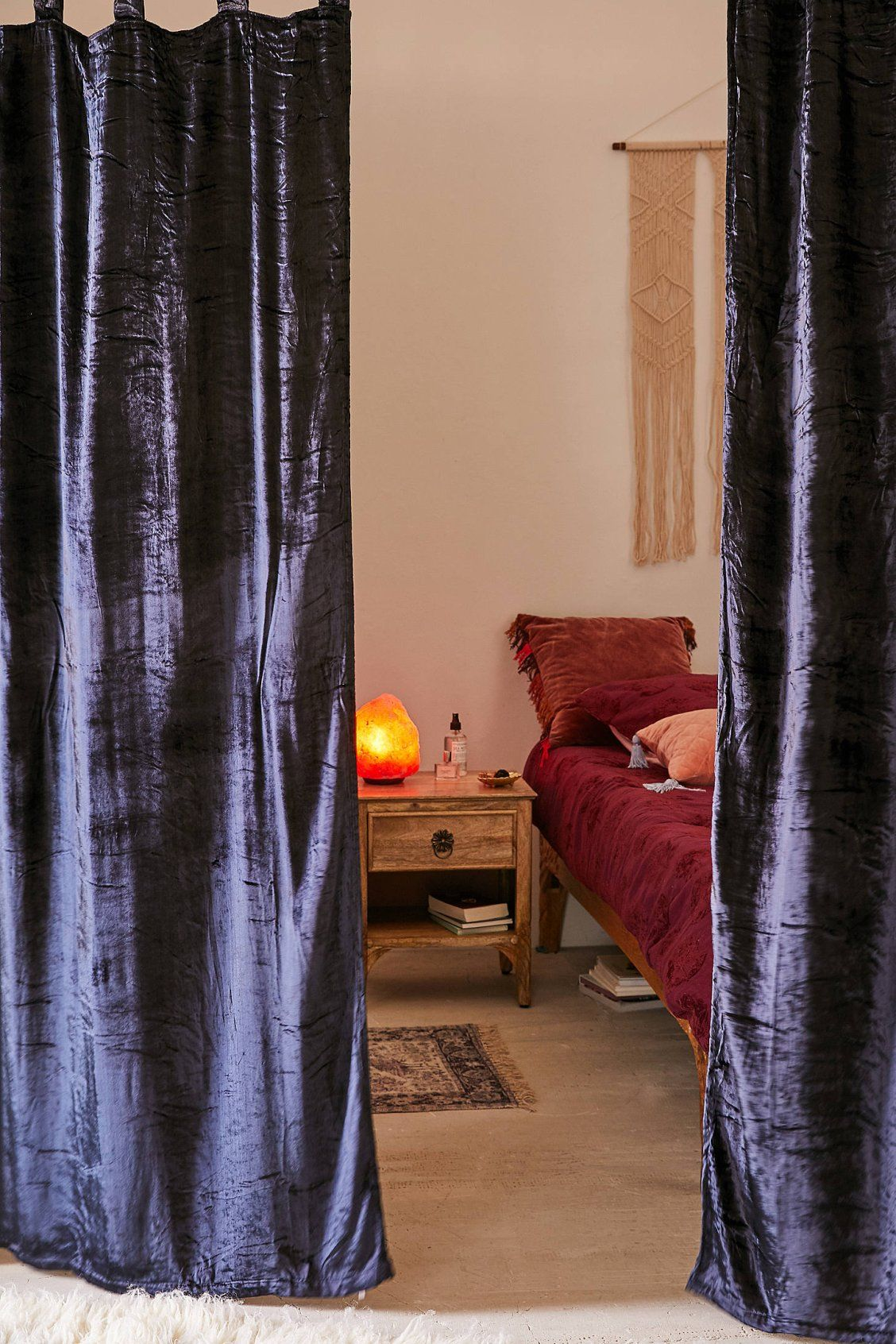 Crushed Velvet Window Curtain Urban Outfitters Bedroom Decor