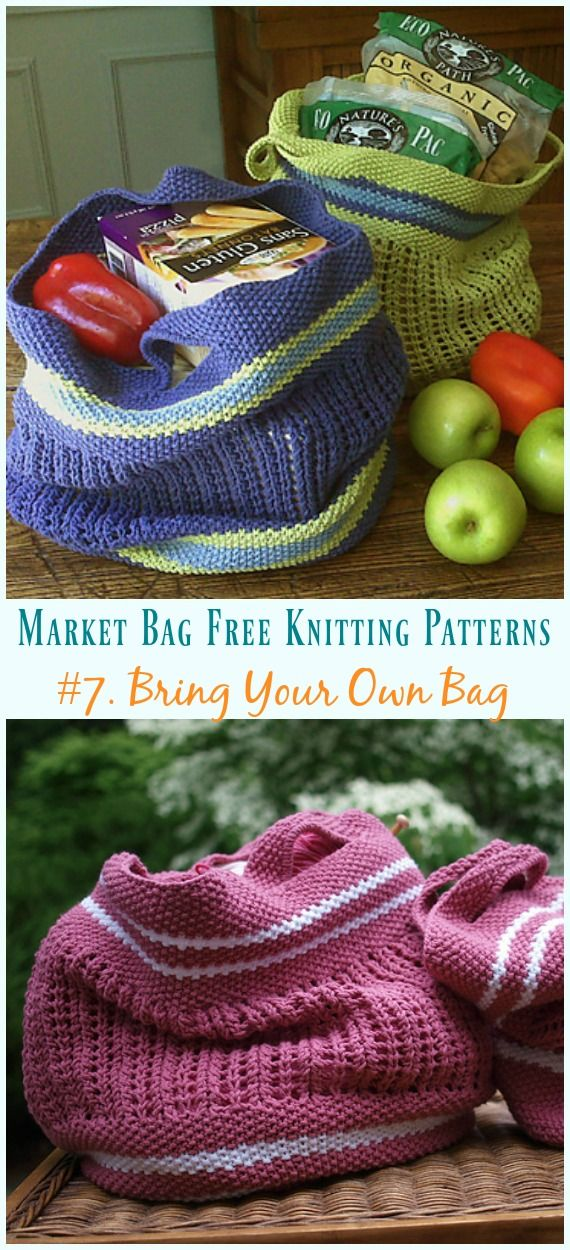 Market Bag Free Knitting Patterns