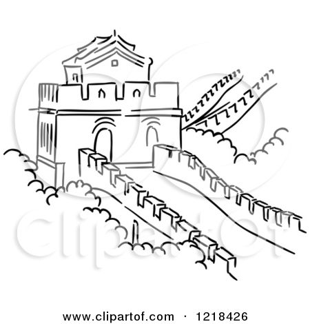 Great Wall Of China Easy Drawing Great Wall Of China Easy Drawings
