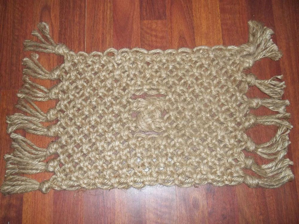 Macrame Door Mat Jute Rug Handmade Doormat Foot Wipe Rug New Craft