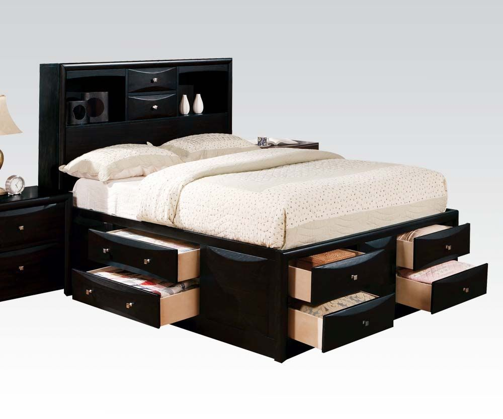 decorating captains bed queen with storage drawer and. Black Bedroom Furniture Sets. Home Design Ideas