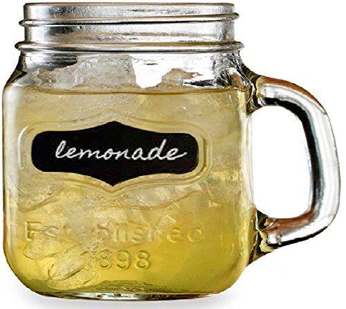 61d82708248f Circleware Shot Glasses Set Chalkboard Yorkshire Mason Jar Mug Shot ...