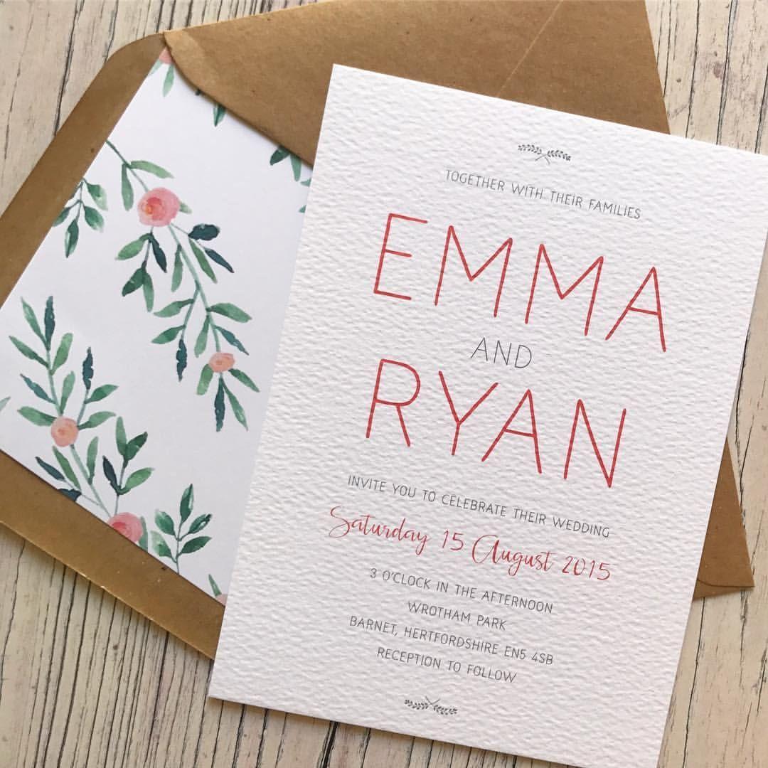 Rustic romance wedding invitation   Weddings, Modern rustic weddings ...