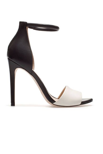 6ddaf9d4b36 The hottest summer sandals  Zara black and white ankle strap heel