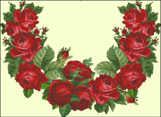 Оригинал схемы вышивки «Розы вышиванка»