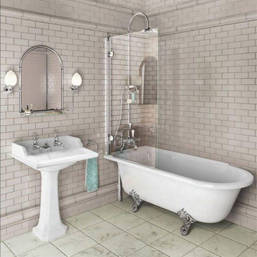 Burlington Hampton Shower Bath 1700mm E13 Left Hand | Pinterest | Bath