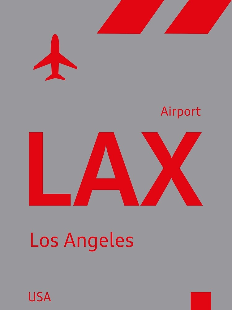 Lax D Design By Airport Sticker Redbubble Vintage Luggage Tags Design Lax